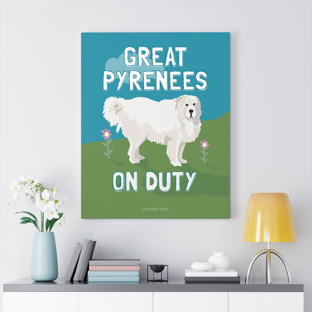 Great Pyrenees Canvas Gallery Wrap