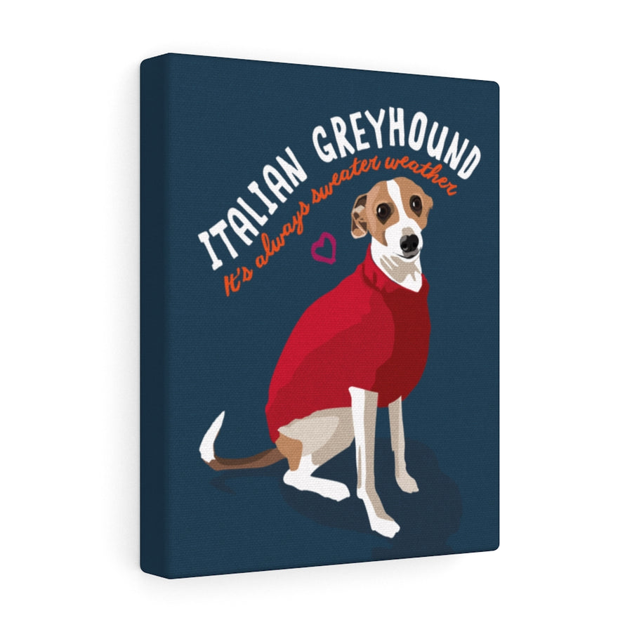 Italian Greyhound Canvas Gallery Wrap