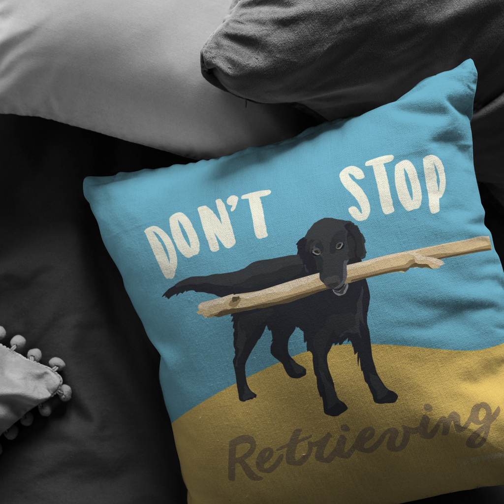 Don't Stop Retrieving Pillow
