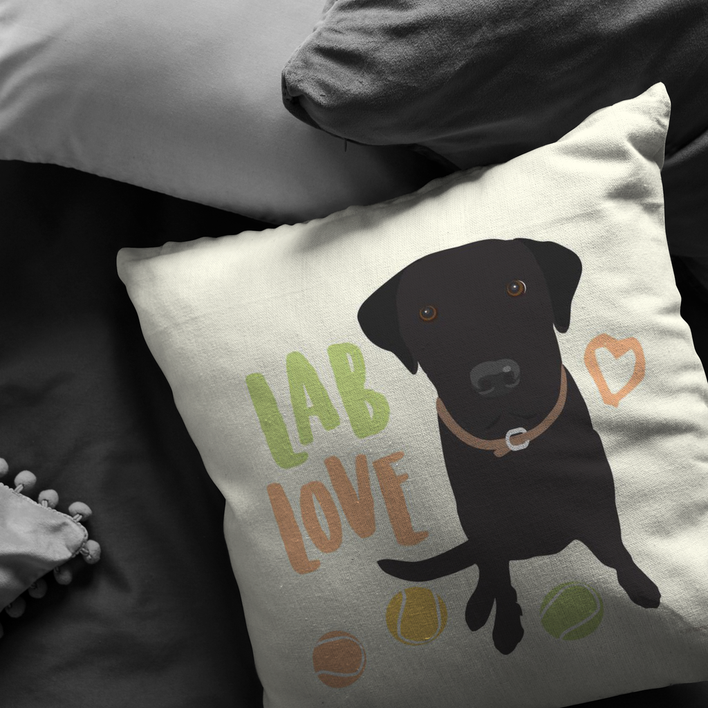 Lab (Black Dog) Pillow