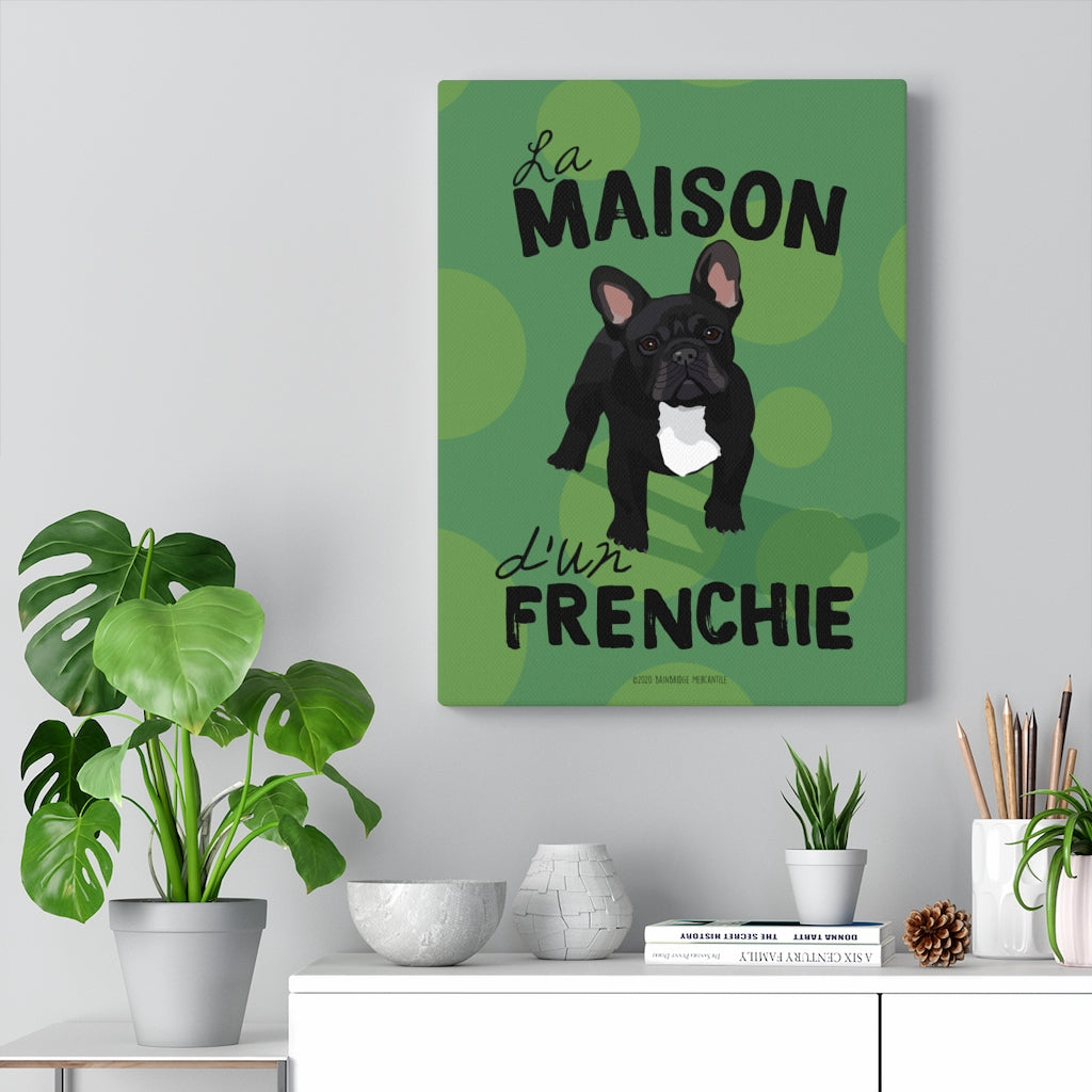 French (Black) Canvas Gallery Wrap