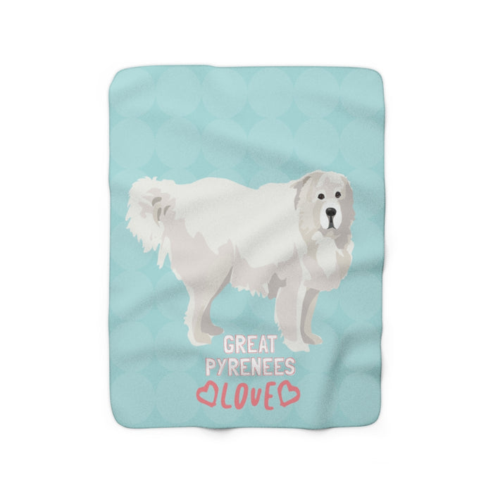Great Pyrenees Sherpa Fleece Blanket