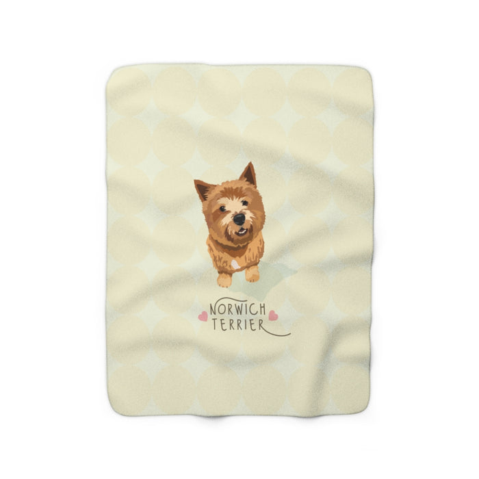 Norwich Terrier Sherpa Fleece Blanket