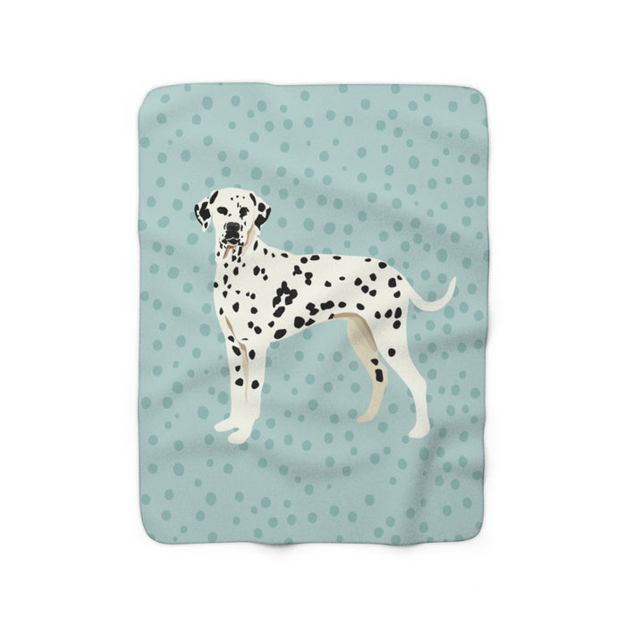 Dalmatian Sherpa Fleece Blanket