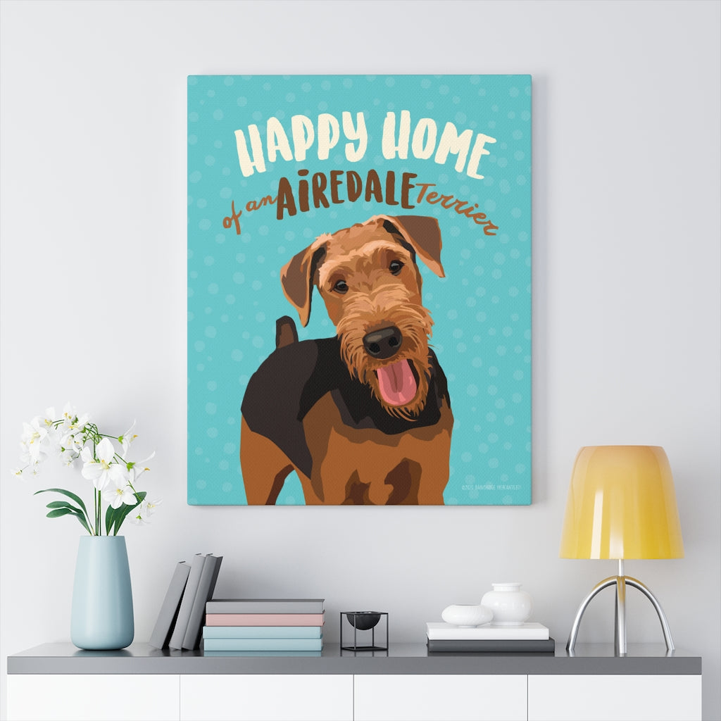 Airedale Terrier Canvas Gallery Wrap