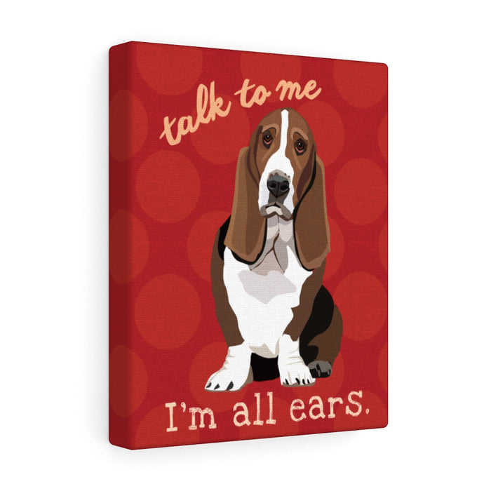 Basset Hound Canvas Gallery Wrap