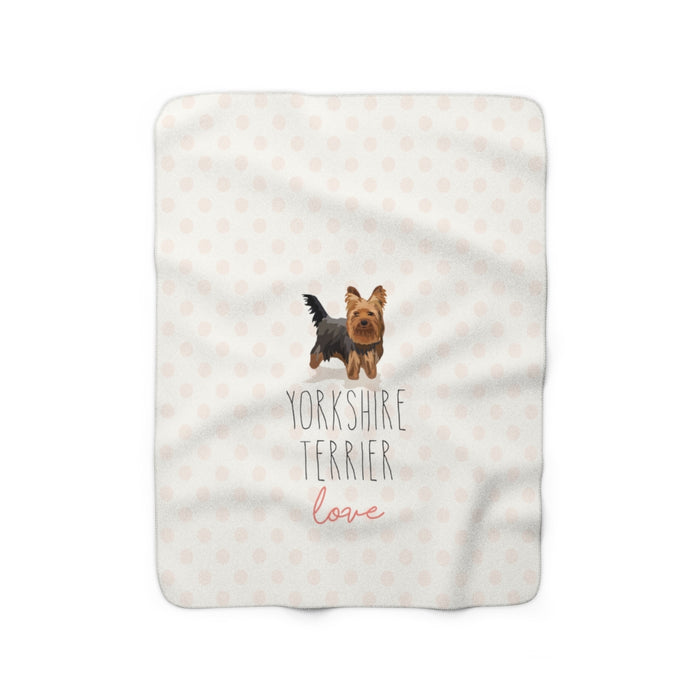 Yorkshire Terrier Love Sherpa Fleece Blanket