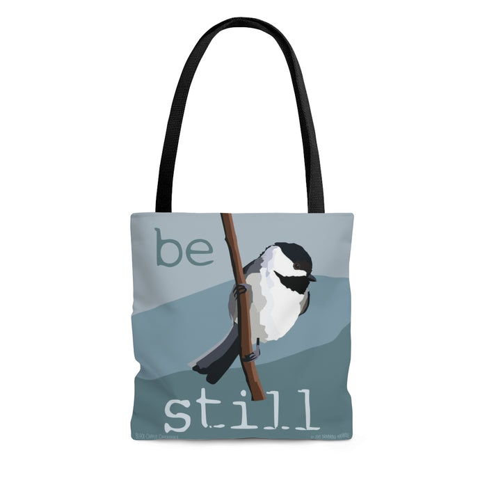 Be Still (Black Capped Chickadee) Tote Bag