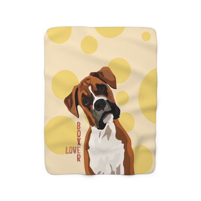 Boxer Love Sherpa Fleece Blanket