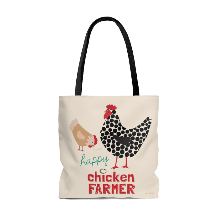 Happy Chicken Farmer Tote Bag