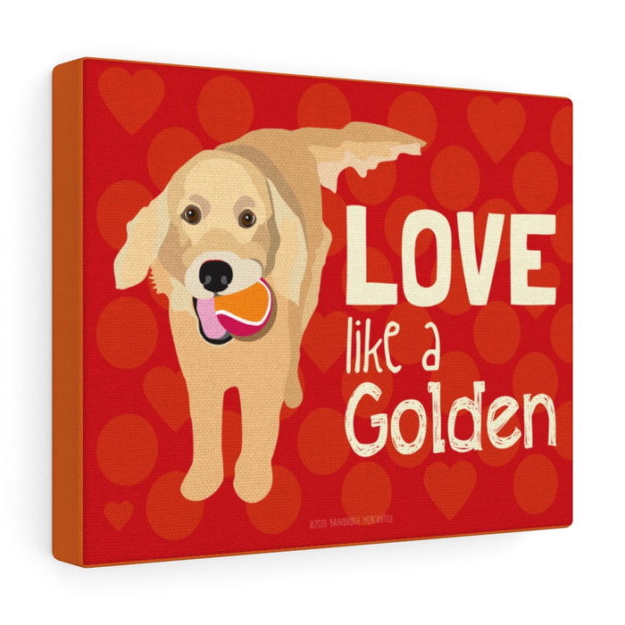 Golden Retriever (Love Like a Golden) Canvas Gallery Wrap