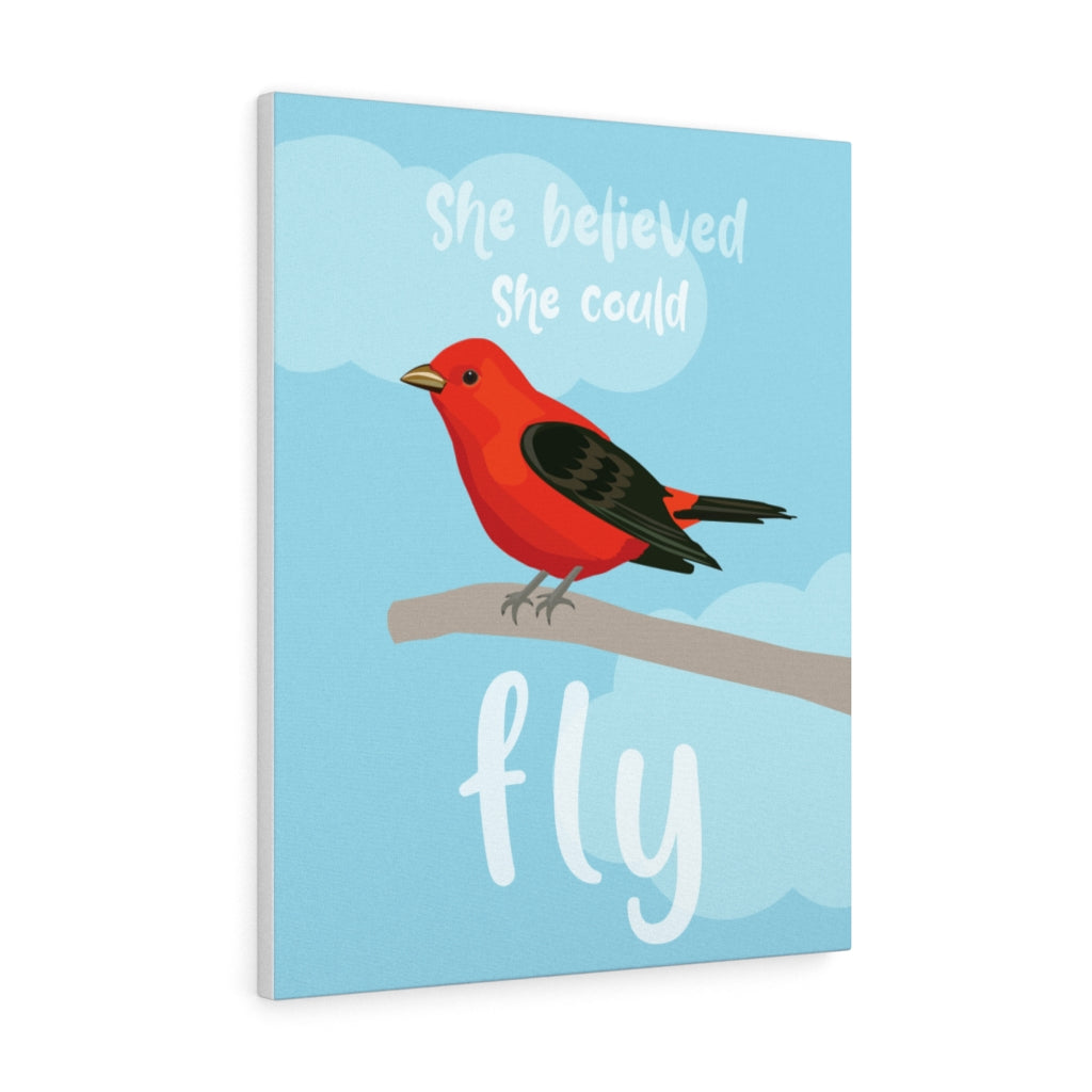 She Believed She Could Fly Canvas Gallery Wrap