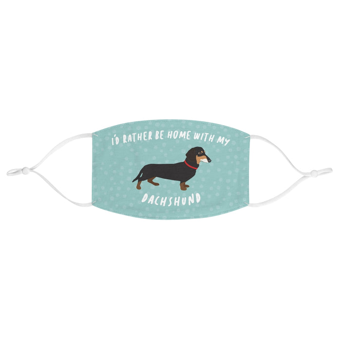 Dachshund (black and tan) Face Mask