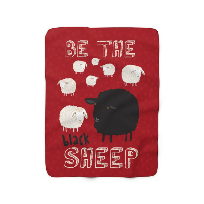 Be The Black Sheep Sherpa Fleece Blanket