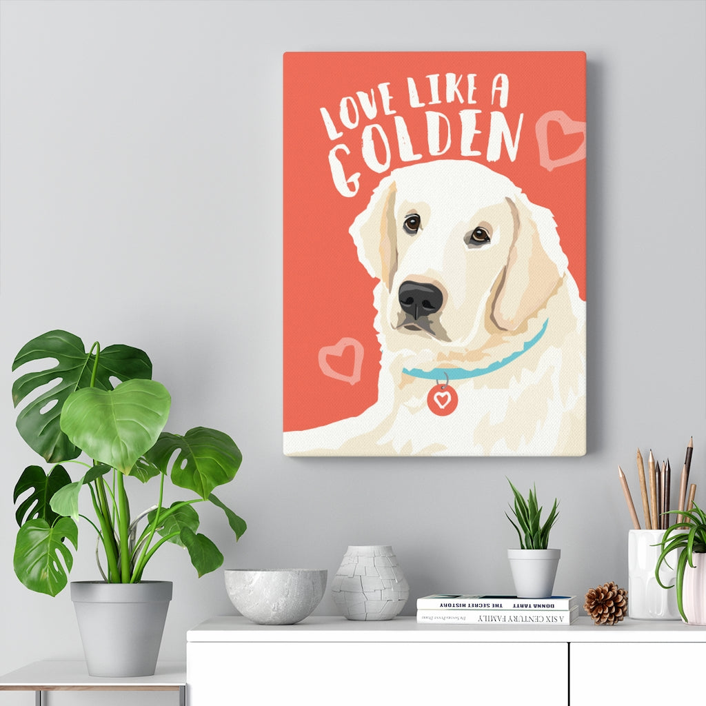 Golden Retriever - English Cream Canvas Gallery Wrap