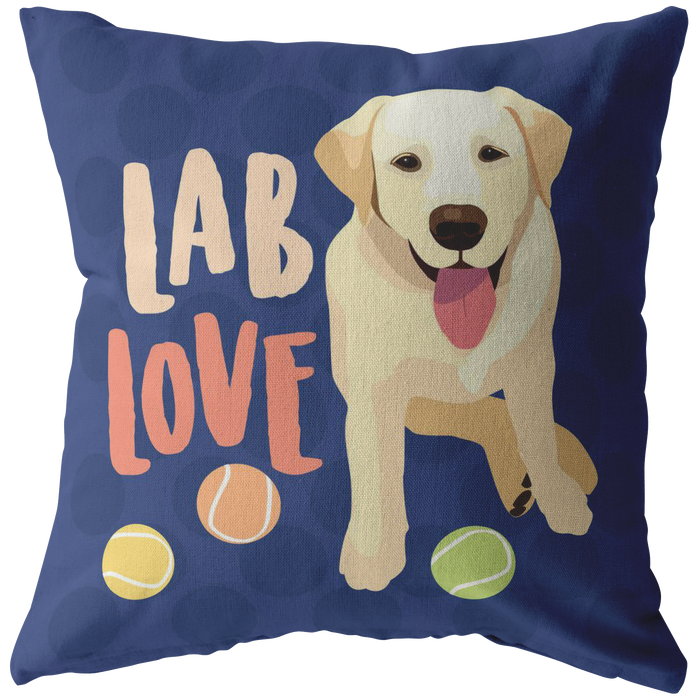 Lab (Yellow Dog) Pillow