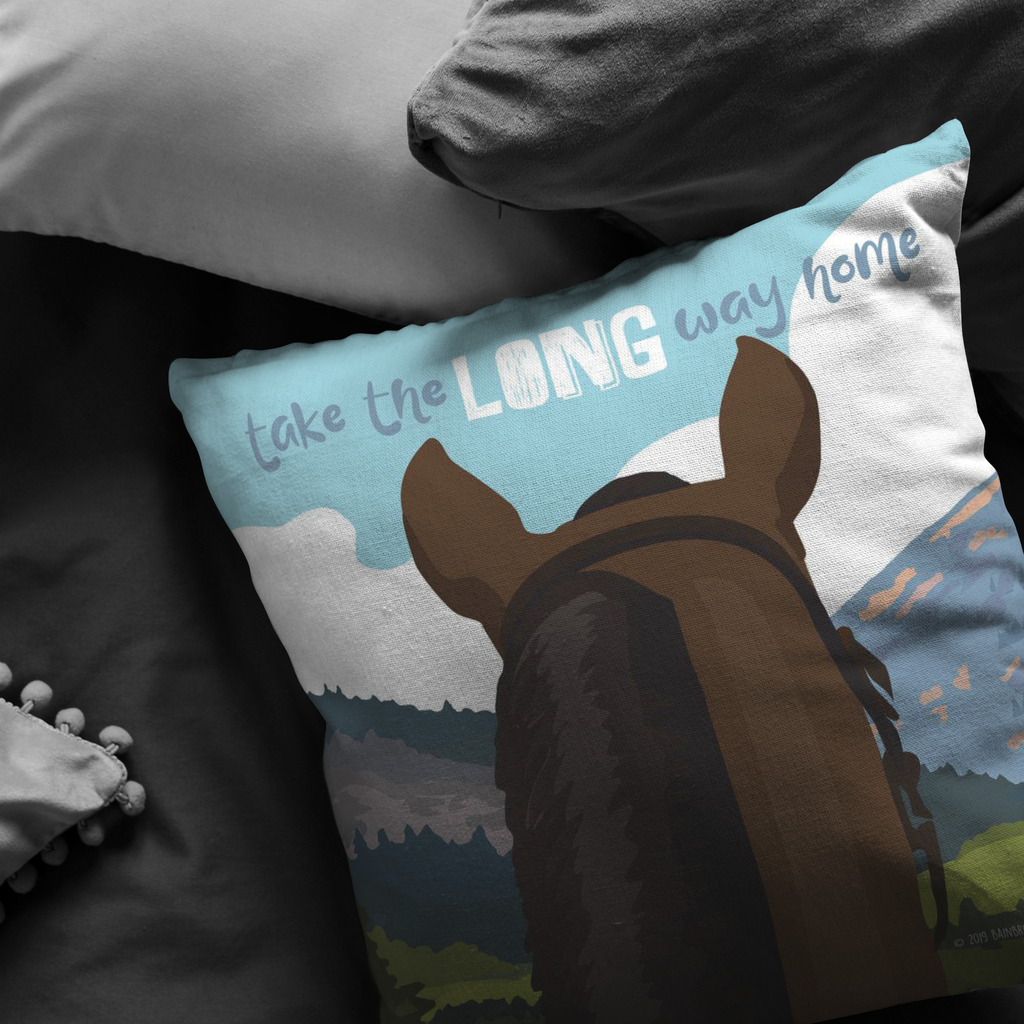 Take The Long Way Home (Horse) Pillow