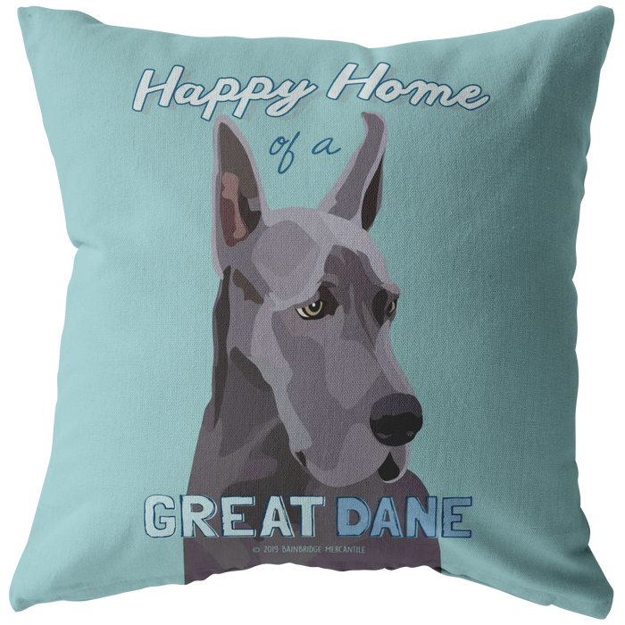 Great Dane (Blue Dog) Pillow