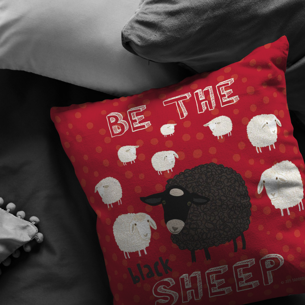 Be The Black Sheep Pillow