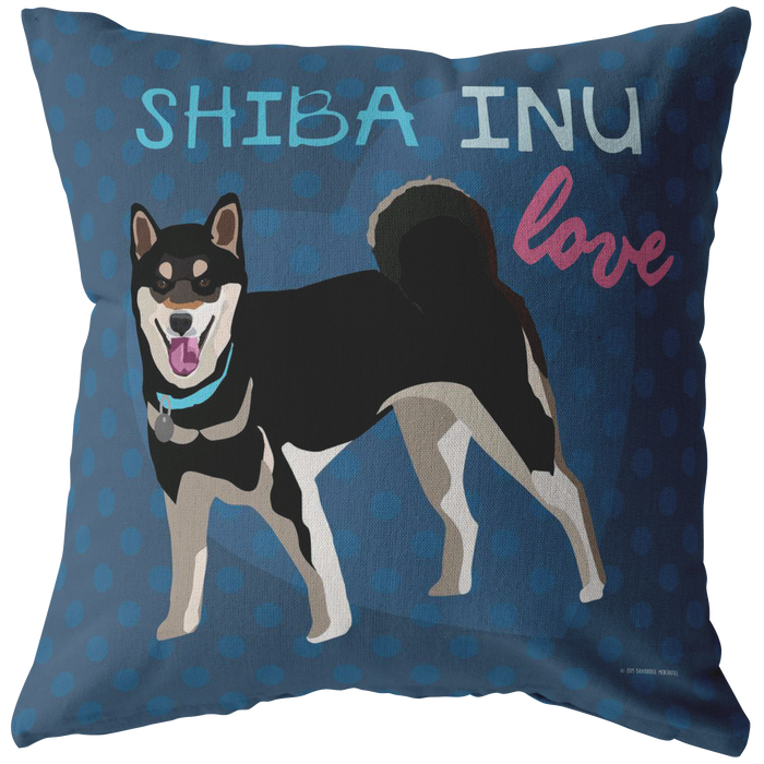 Shiba Inu (Black Dog) Pillow