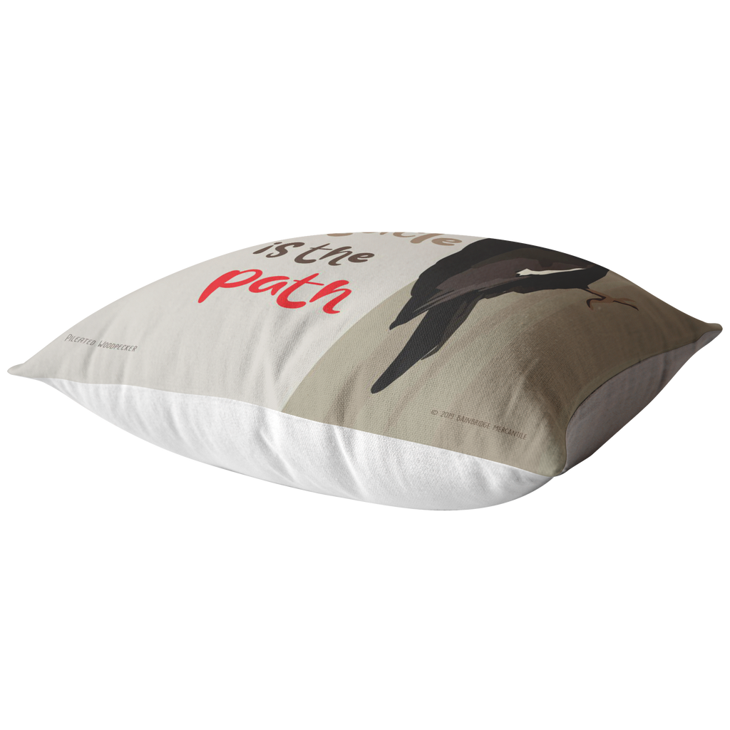 The Obstacle is the Path (Pileated Woodpecker) Pillow