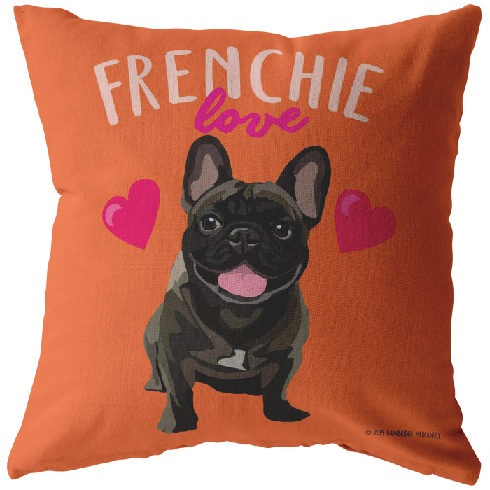 Frenchie (Brindle Dog) Pillow