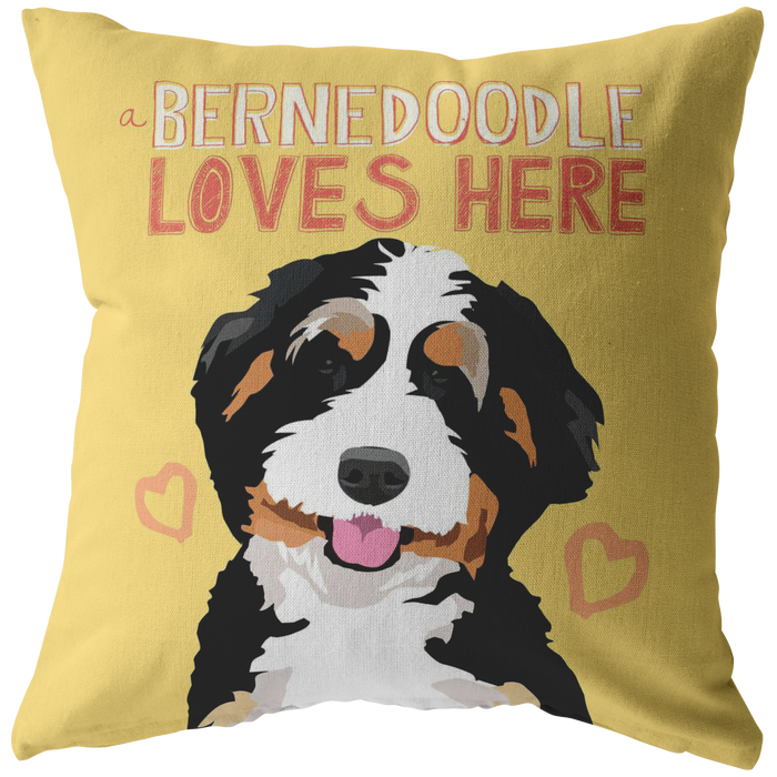 Bernedoodle Pillow