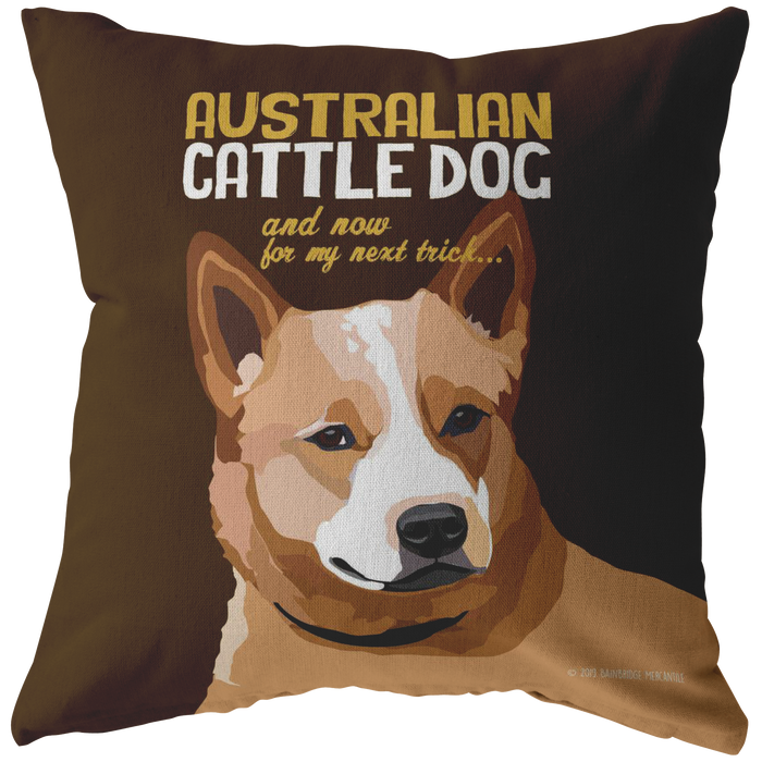 Australian Cattle Dog (Brown) Pillow