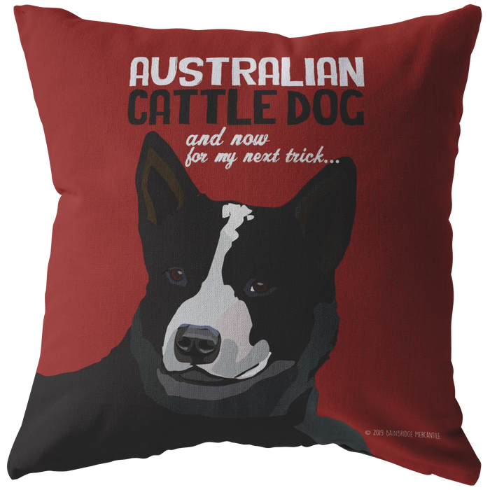 Australian Cattle Dog (Black) Pillow