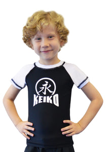 NEW Kids Comp Team Rash Guard - White