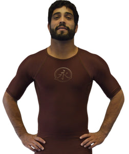 Rank Rash Guard S/S - Brown