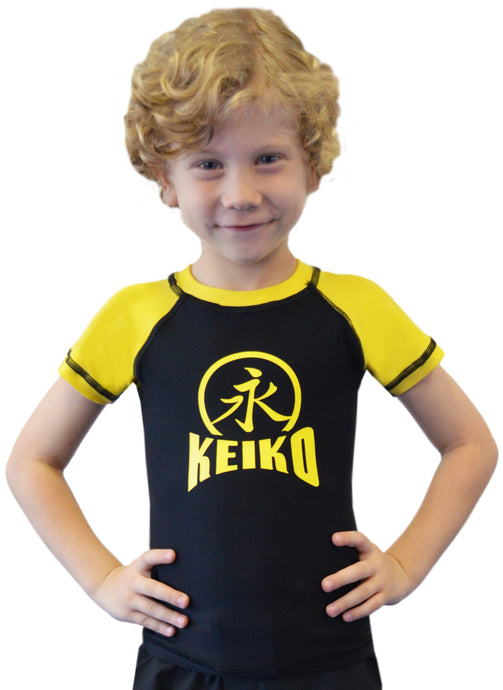 NEW Kids Comp Team Rash Guard - Yellow