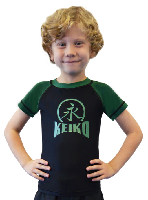 NEW Kids Comp Team Rash Guard - Green
