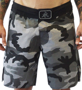 Camo Fight Shorts - Gray