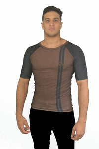 Road Rash Guard S/S - Brown