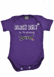 Black Belt Onesie - Purple
