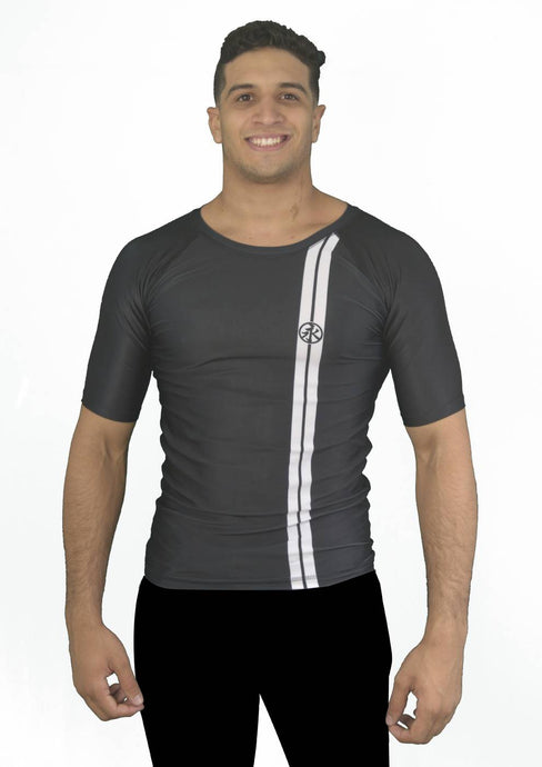Road Rash Guard S/S - Black
