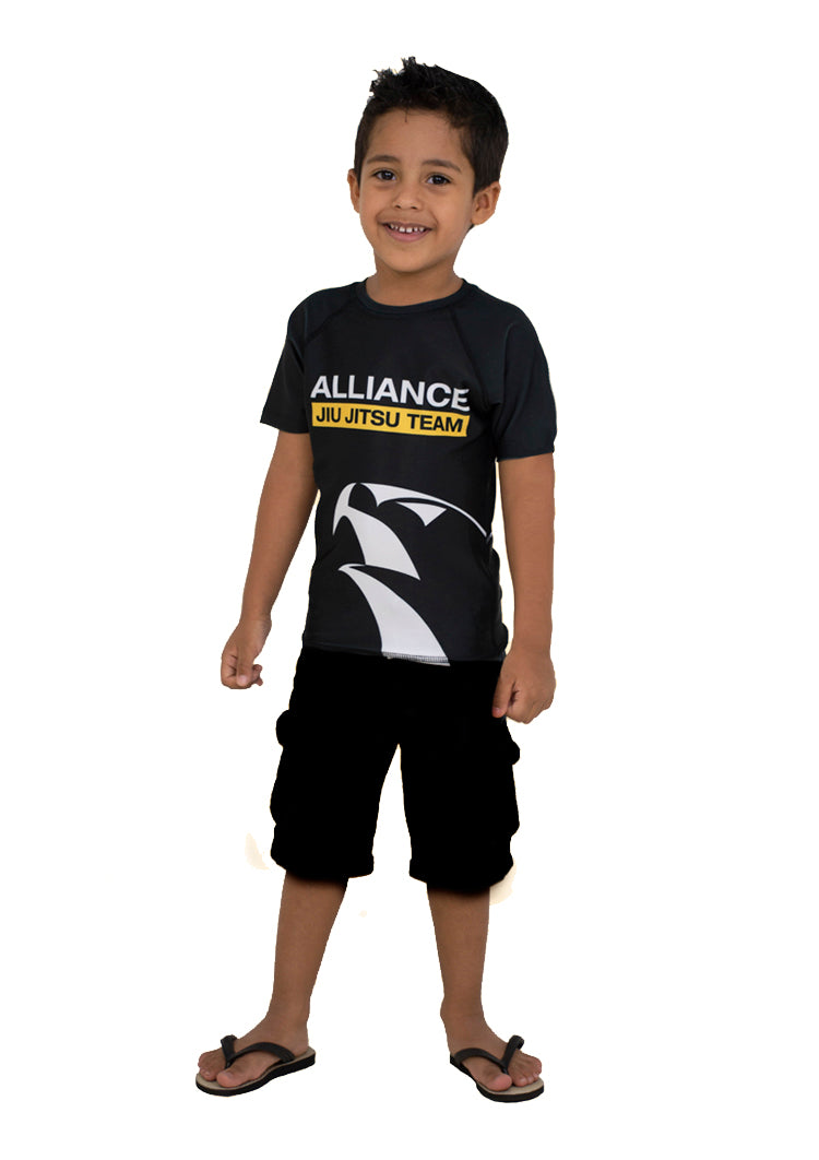 Alliance Juvenile Rash Guard S/S - Black