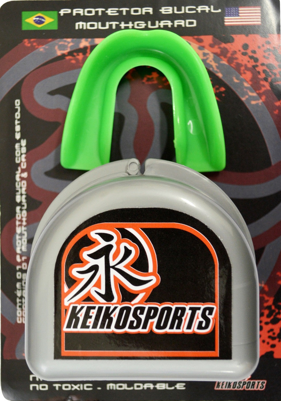 Keiko Simple Mouth Guard - Green