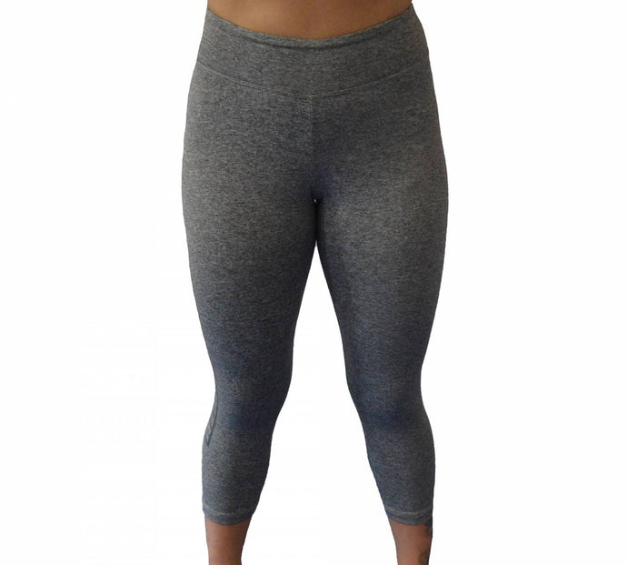 Womens Skin Capri - Gray
