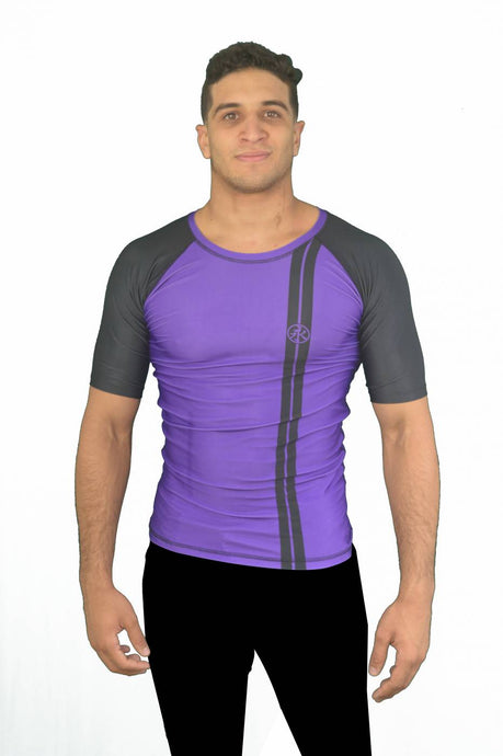 Road Rash Guard S/S - Purple