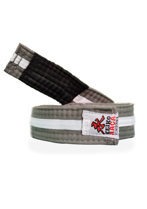 BJJ Belt - Gray/White