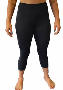 Womens Skin Capri - Black