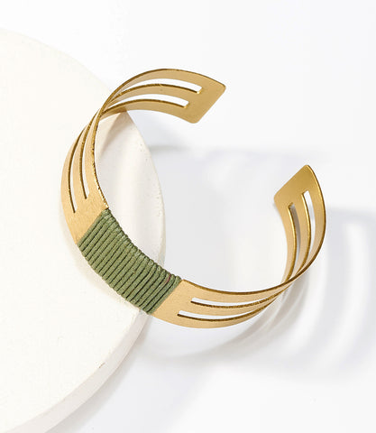 Kaia Earrings - Olive Hoop