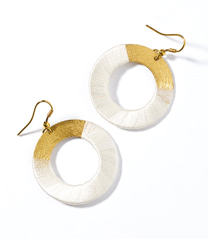 Nihira Ashram Window Earring - Gold