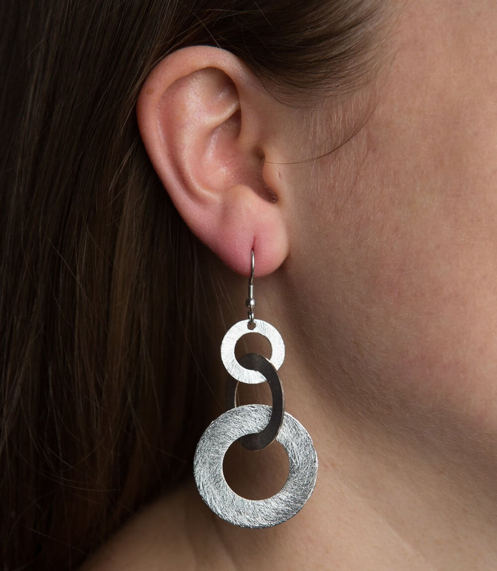 Linked Up Earrings - Silver