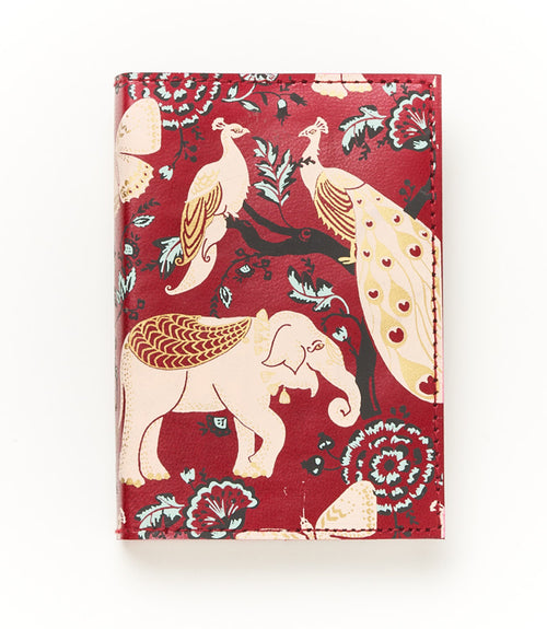 Fauna Leather Journal - Red Garden
