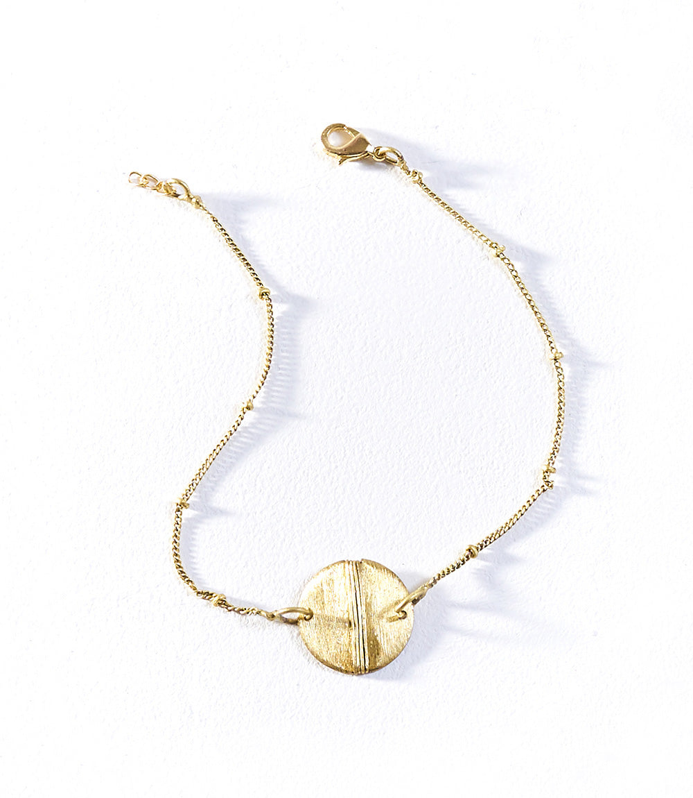 Dhavala Anklet (Set of 3) - Gold Charm