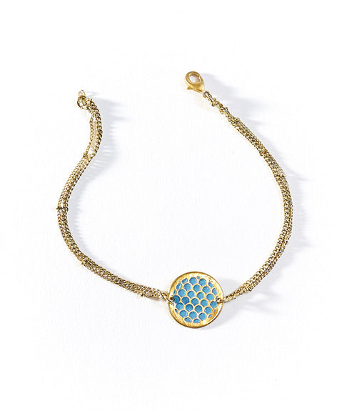 Dhavala Anklet (Set of 3) - Teal Charm