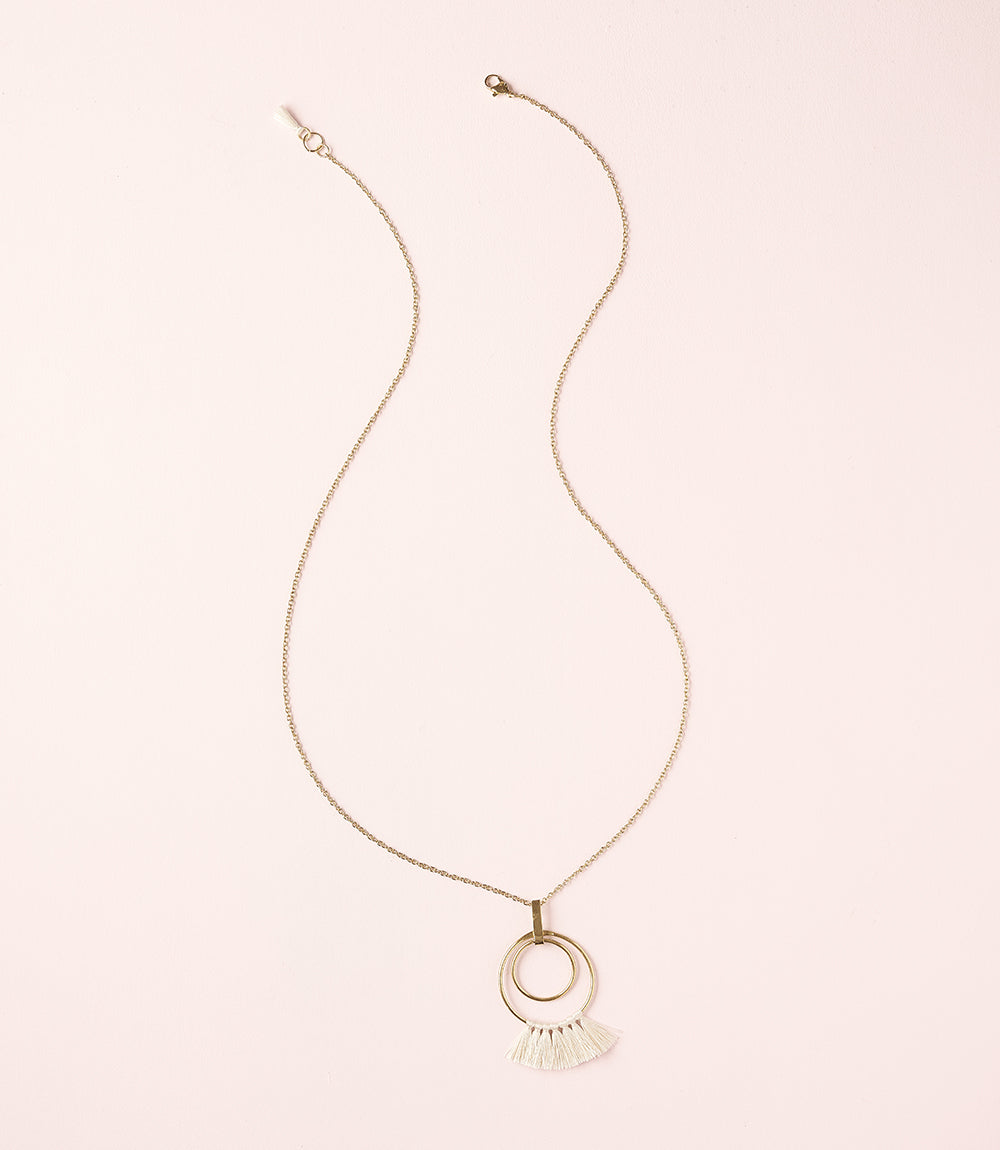 Danu Necklace - Pearl Hoop